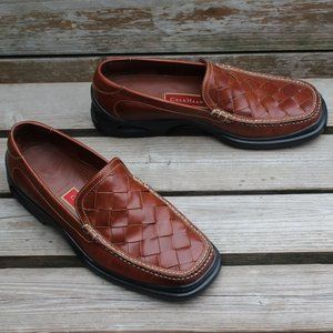 Cole Haan Brown Woven Leather Slip-on w Nike Soles